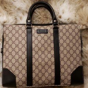 Authentic Gucci laptop case/ briefcase